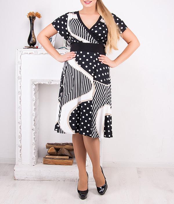 """Стильное женское платье """"Альвина"""" большого размера"""