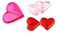 Набор бусины пластиковые сердечки 5 шт.