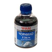 Чернила WWM для Epson XP-600, XP-605, XP-700, 200г Photo Black, Водорастворимые E26/PB