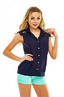 Женская стильная блуза без рукавов