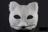"""Карнавальная маска """" Белый кот """""""