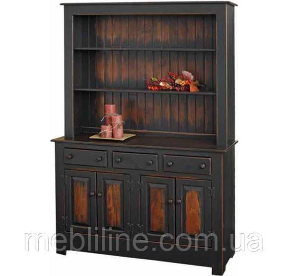 шкаф буфет из массива марго большой деревянные шкаф и комоды от производителя мебельная фабрика Mebliline киев украина
