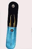 Набор пинцетов GM в чехле,цвет:бирюзовый