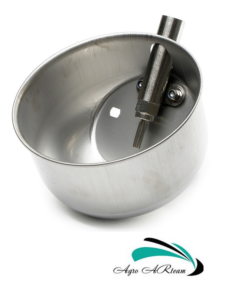 Чашечная поилка для свиней на откорме от 30 кг (нержавеющая сталь), фото 1