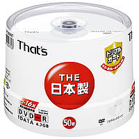 DVD-R 4.7 GB That's Taiyo Yuden made in Japan Tripple Guard hard coating, фото 1