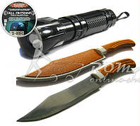 Нож Rostfrei+фонарь,фонарик c линзой- набор