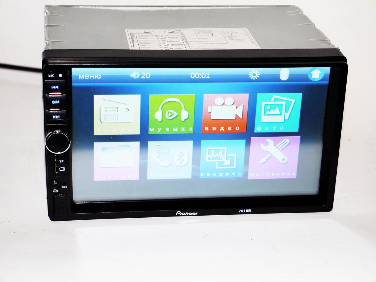 "2Din Pioneer 7018 7"" Экран Магнитола USB+Bluetooth"