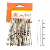 Шпилька для волос серебро 7 см. (50 шт. в уп.)