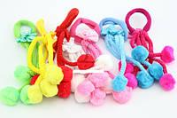 Резинка детская для волос с бантиком разноцветная