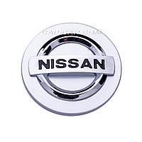 Колпачки заглушки для литых дисков Nissan серый+хром 59мм