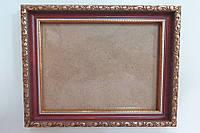 Рамка для картин, икон, фотографий 14*16 (темно бордовая, золото)