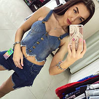 Женский джинсовый костюм DB-1039