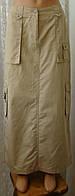Юбка женская длинная хлопок бренд Esprit р.44-46 6492а