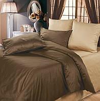 Двуспальное постельное белье, Сатин однотонный, микс №154+№169