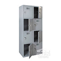 Секционный металлический шкаф (локер) на 8 ячеек 1800х600х500 мм