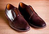 Мужские кожаные туфли Goergo EEOC-3976-ZE51-00S02 коричневые летние (обувь мужская летняя, весна, лето)