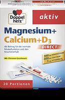 Doppelherz Magnesium + Calcium + Vitamin D3 Direktgranulat -  Магний + кальций + D3 в гранулах, 20 порций