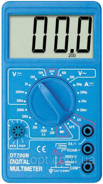 Мультиметр цифровой (тестер) DT-700B Стандарт (большой экран)