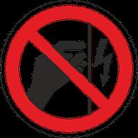 """Знак забороняючий Р 09 """"Забороняється торкатися. Корпус під напругою"""""""