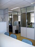 Стационарные перегородки для офиса