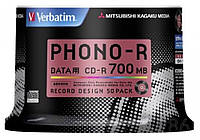 Verbatim Japan Phono-R vinyl 48x CD-R 50 шт, фото 1