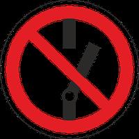 """Знак забороняючий Р 10 """"Не вмикати"""" / Знак запрещающий """"Не включать"""""""