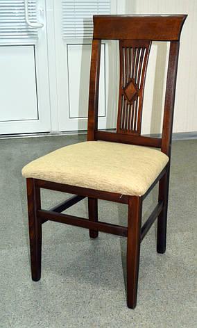 Стул Алла  твёрдая спинка Микс мебель, цвет темный орех, фото 2