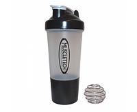 Шейкер MusclTech SmartShake 500 ml с шариком (grey)