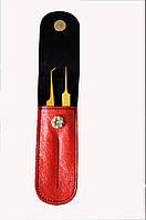 Набор пинцетов GM в чехле,цвет:красный
