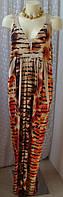 Платье женское летнее легкое модное элегантное макси бренд Cato р 48-50 6482