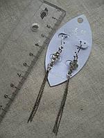 Сережки    длина с застежкой 11,0 см.