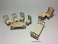 Кукольная (игрушечная) мебель для PetShop, зверюшек, пони, творчества (набор 1)