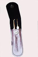 Набор пинцетов GM в чехле,цвет:розовый
