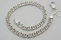 Нарядный серебряный браслет с белыми фианитами