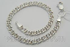 Серебряный браслет с белыми камнями