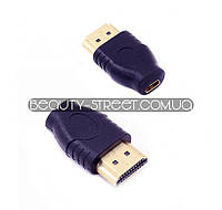 Переходник micro-HDMI (мама) -  HDMI (папа)
