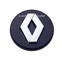 Колпачки заглушки для литых дисков Renault черный