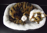 Дышащая игрушка мягкая Breathing Pet Коричневый кот