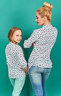 Женская рубашка из штапеля с длинным рукавом