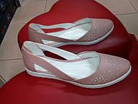 Летние  женские балетки, пудра  OLLI., фото 1