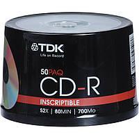 CD-R TDK 700 MB/80 min 52x (50 pcs Cake Box)