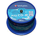 Verbatim AZO CD-R crystal 52x 700 MB 43343, фото 2