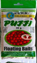 Наживка рыболовная плавающее воздушное тесто CUKK PUFFY Клубника мелкая 3-6мм
