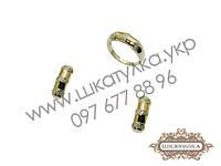 Серебряный гарнитур с золотом и фианитом №76о
