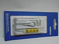 Наушники Nokia Headset WH-701 , белые, stereo,с микрофоном/пультом, наушники, гарнитура,аудиотехника,вакуумные