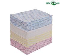 Полотенца одноразовые нарезные  спанлейс сетка,цветные(40х70см/100шт)