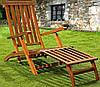 Деревянный шезлонг-кресло
