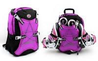 Рюкзак для хранения и транспортировки роликовых коньков (PL,р-р 40*30*12см, цвета в ассортименте) малиновый