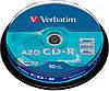 CD-R Verbatim 700 MB/80 min 52x (10 рсѕ Cake Box, 43441)