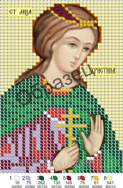 Схема для вышивки бисером «Св Христина »